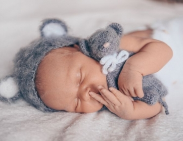 baby sleeping bear outfit