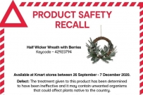recall Kmart Christmas wreath