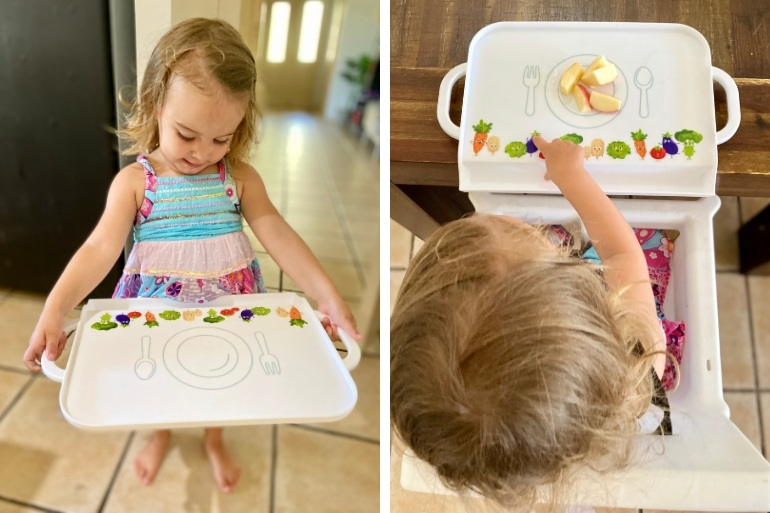 Lily and the Toddler Messy Tray