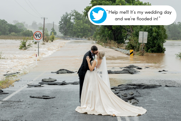 flood water bride