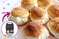 pie maker jam cream doughnut