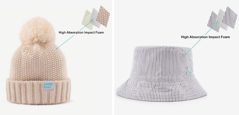 padded hats and beanies by Tumbl Bear