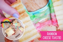 rainbow cheese toastie