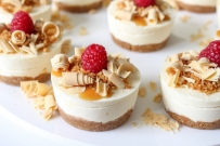 Anzac Caramilk mini cheesecakes