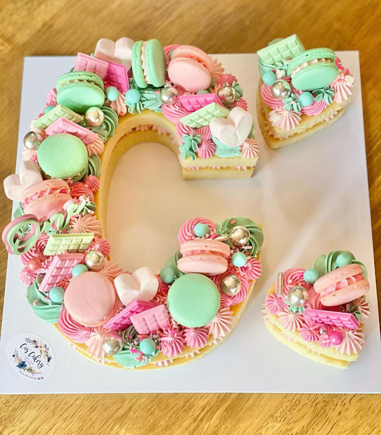 number and letter cake