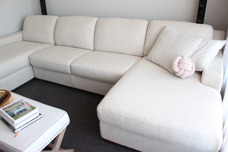 white couch care