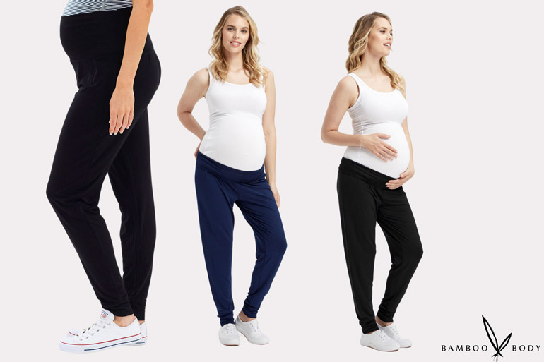Bamboo slouch pants are a must of easy hospital wear