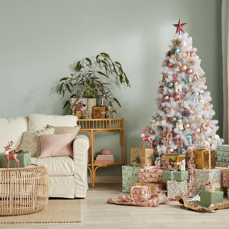 Big W Christmas pastel pink and green