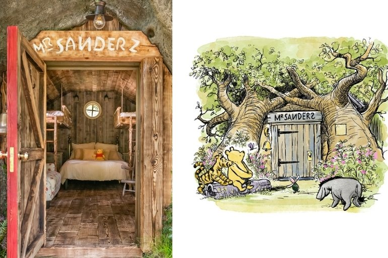 Winnie the Pooh treehouse airbnb
