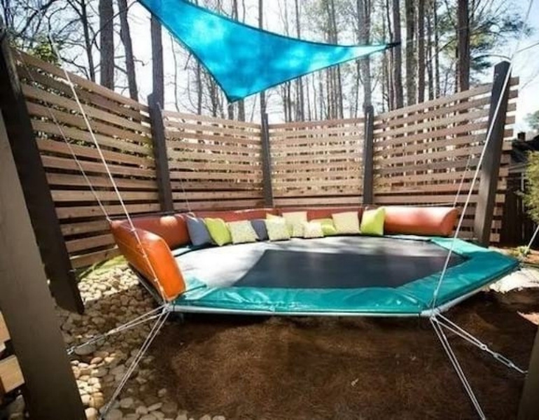 trampoline upcycle ideas