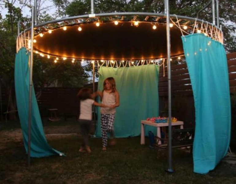 recycled trampoline ideas